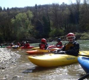 In Kayak sul fiume Arno - Canoa Club Imola